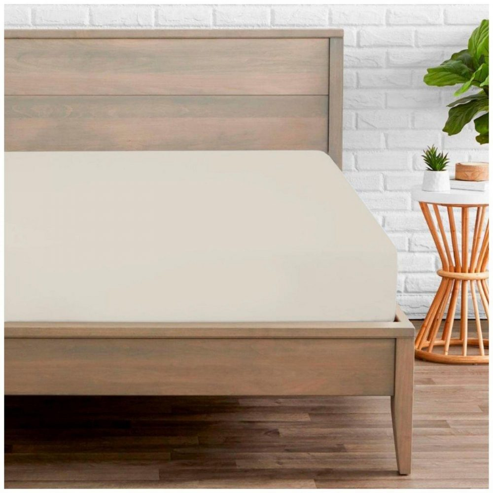 11020165 percale fitted sheet double cream 1 2