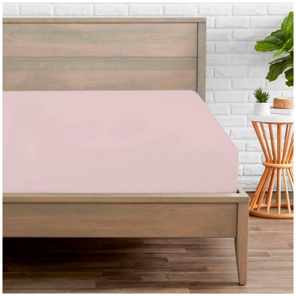 11020189 percale fitted sheet double pink 1 1