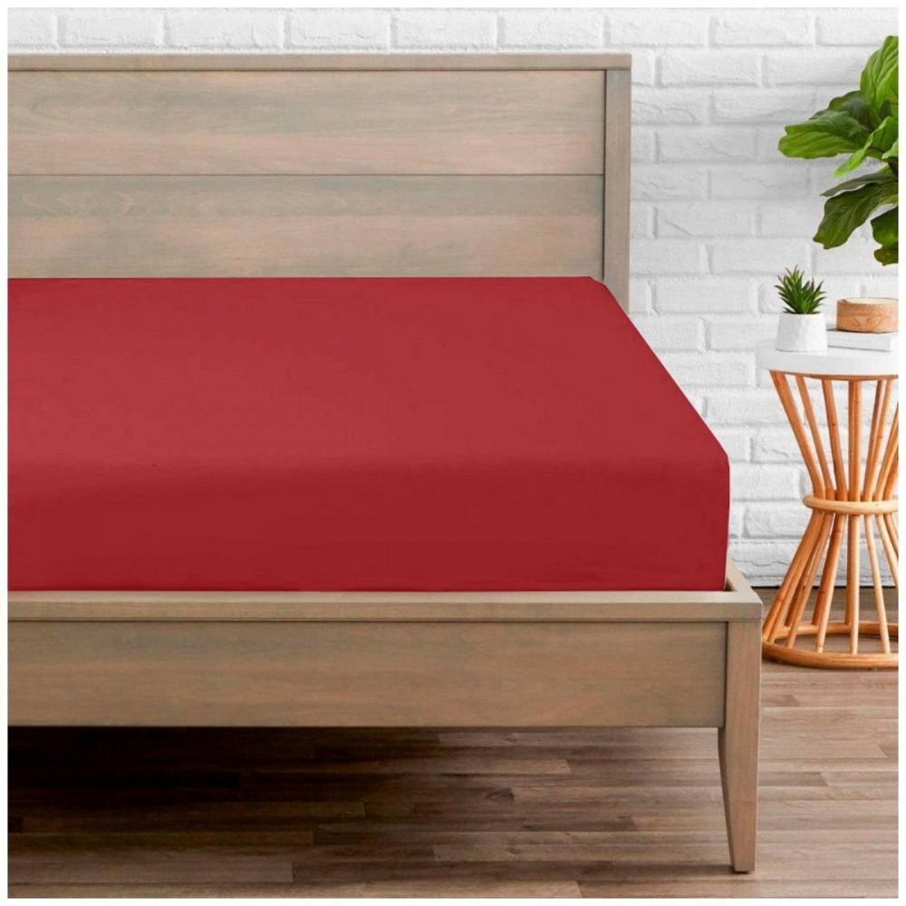 11020196 percale fitted sheet double red 1 2
