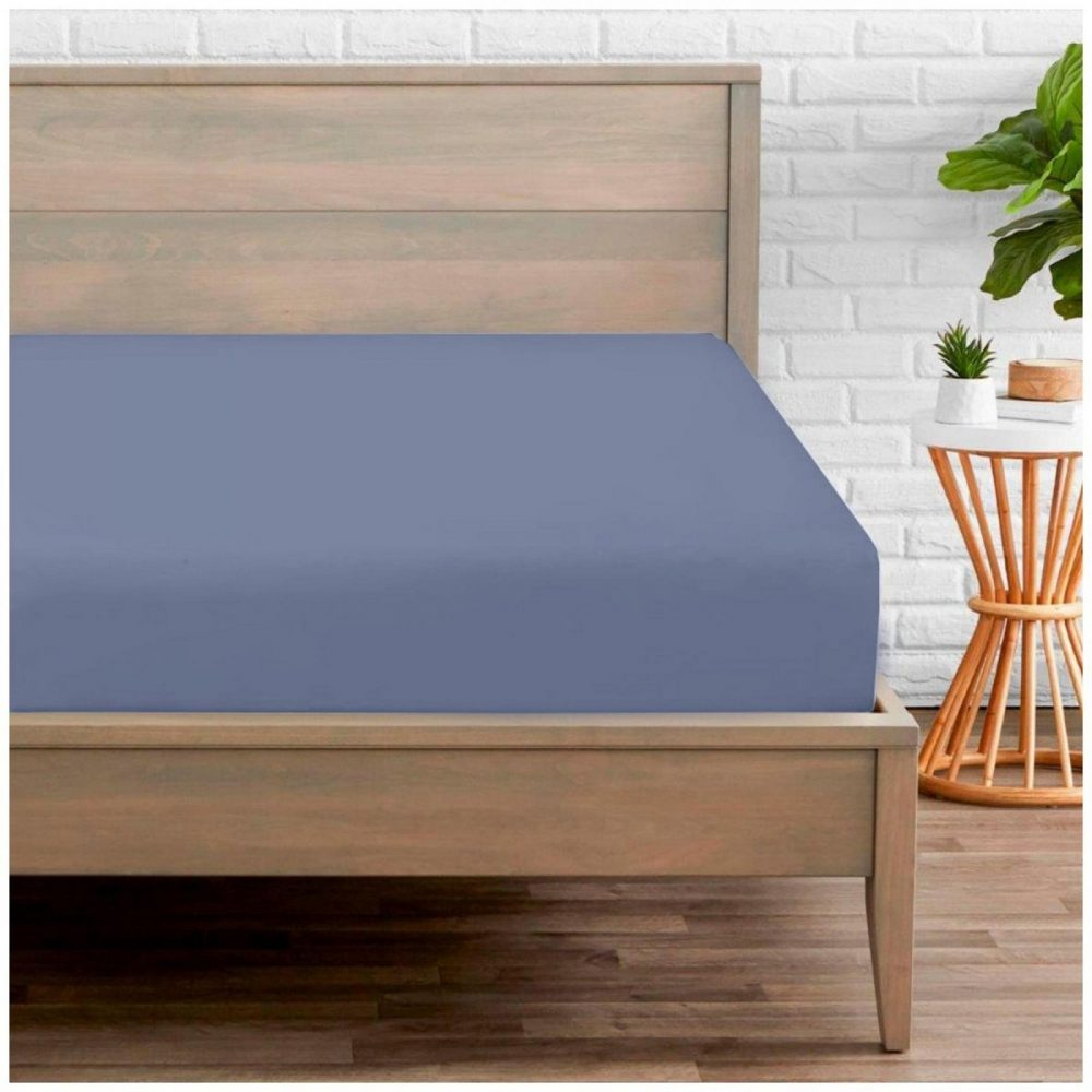 11020240 percale fitted sheet double blue 1 2