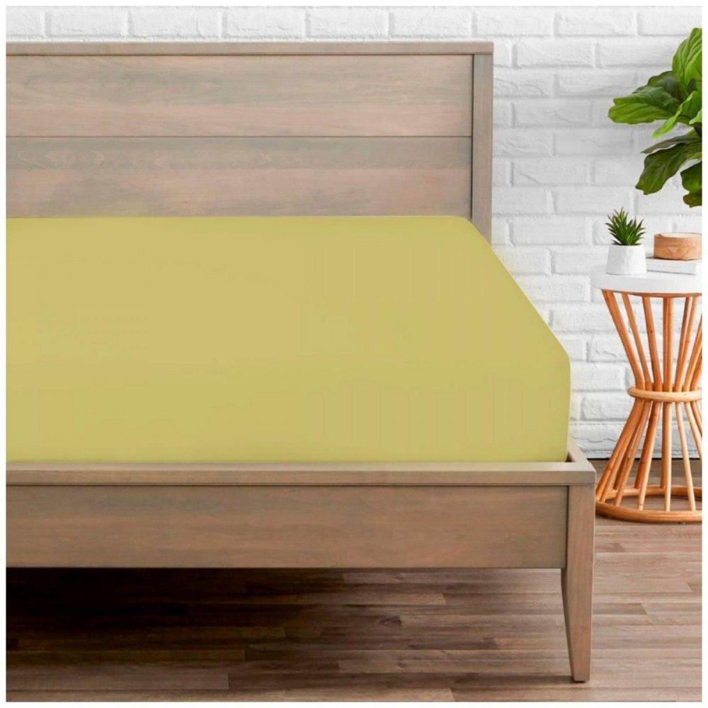 11020288 percale fitted sheet double green 1 2