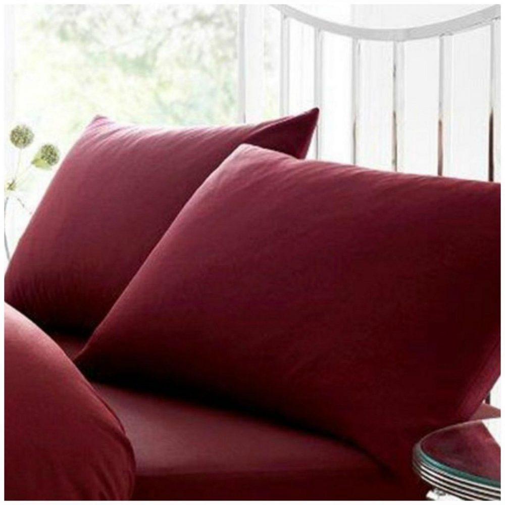 11020424 percale pillow case burgundy 1 2
