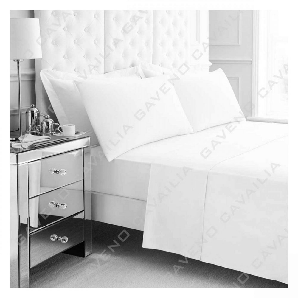 11020936 percale flat sheet double white 1 2