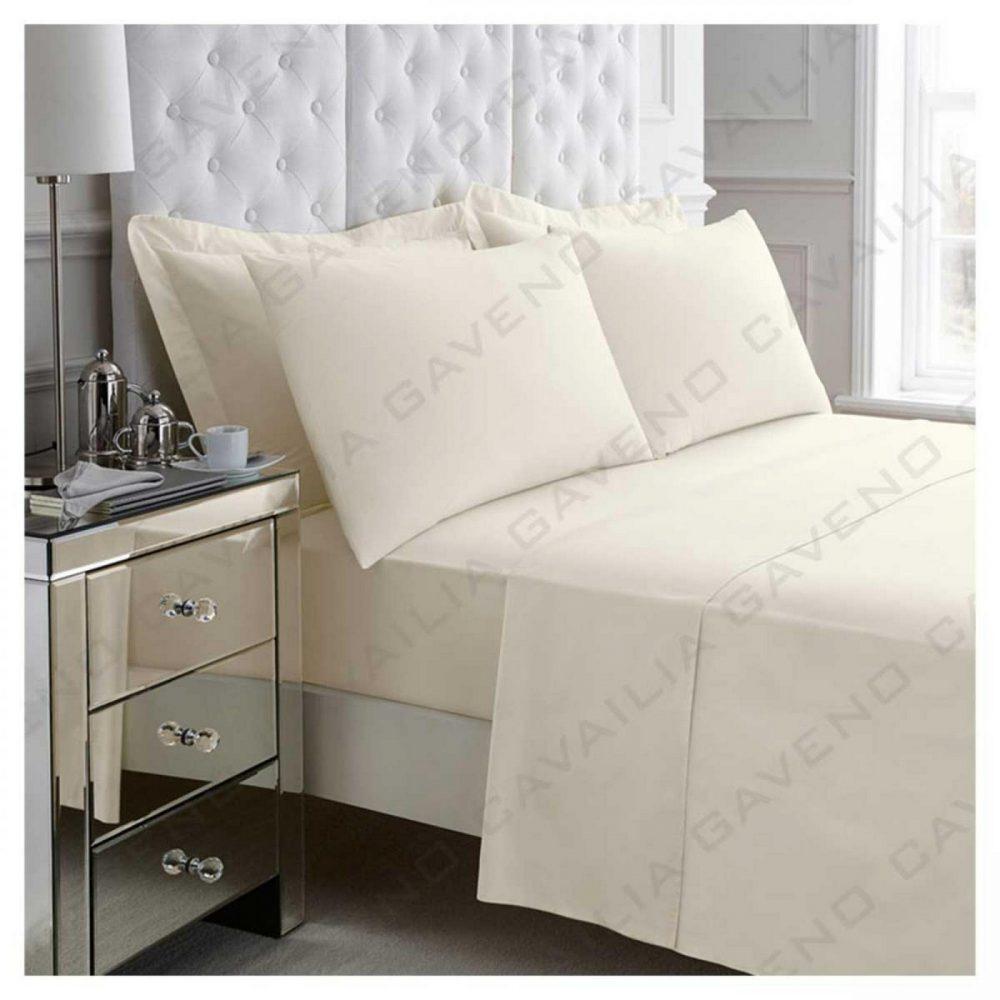 11020943 percale flat sheet double cream 1 2