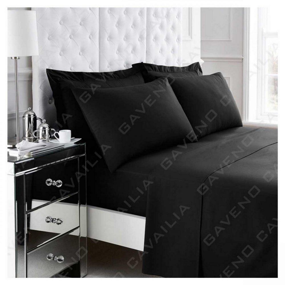 11020950 percale flat sheet double black 1 2