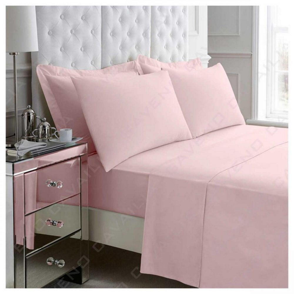 11020967 percale flat sheet double pink 1 1