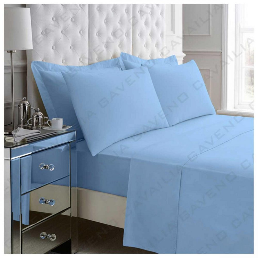 11021025 percale flat sheet double blue 1 2