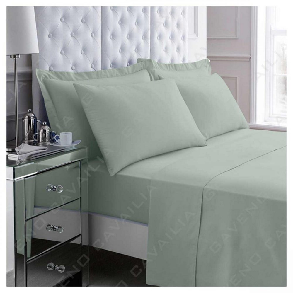 11021056 percale flat sheet double duck egg 1 1
