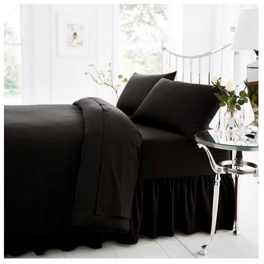 11021377 percale valance sheet double black 1 2