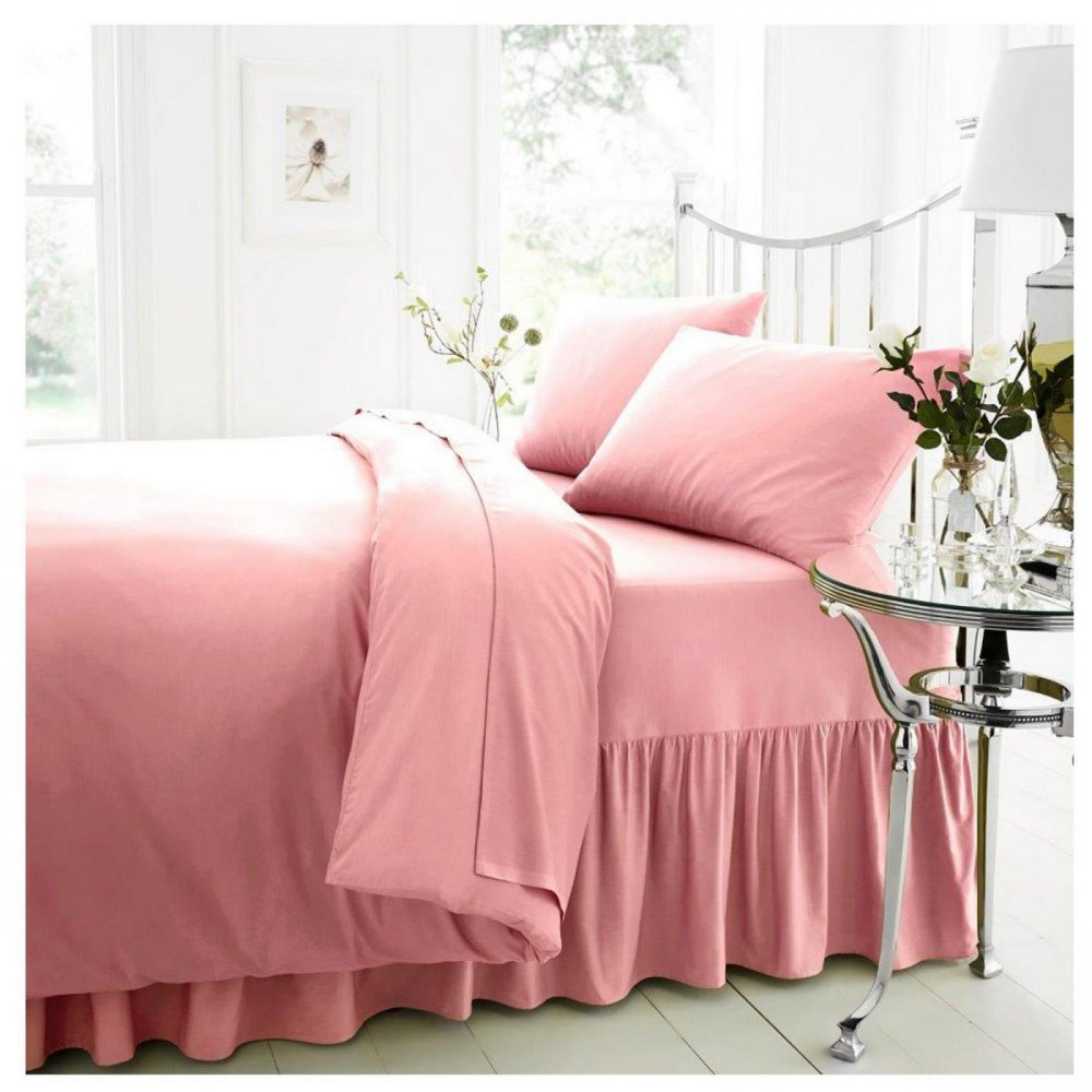 11021384 percale valance sheet double pink 1 1