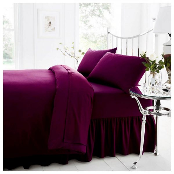 11021414 percale valance sheet double berry 1 1