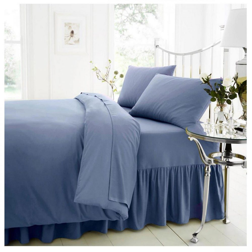 11021445 percale valance sheet double blue 1 2