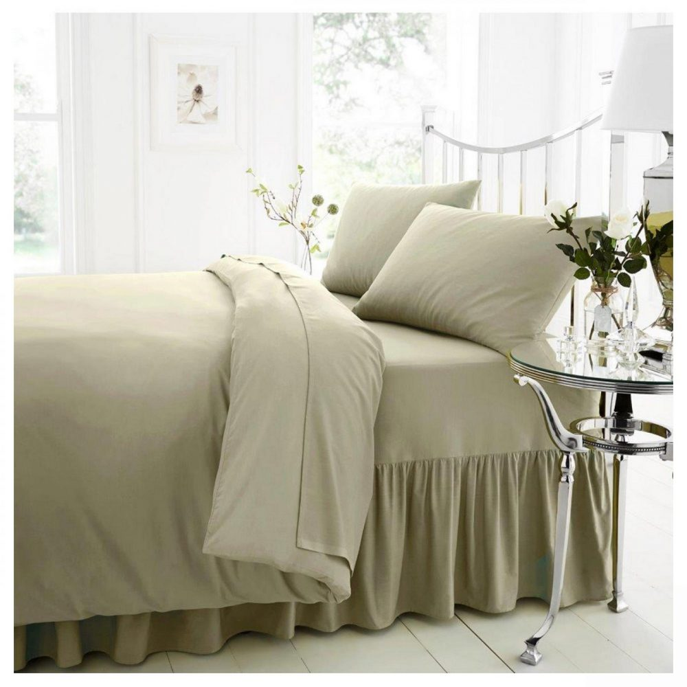 11021476 percale valance sheet double duck egg 1 1