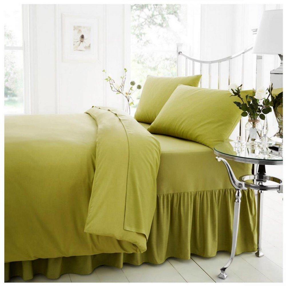 11021483 percale valance sheet double green 1 2
