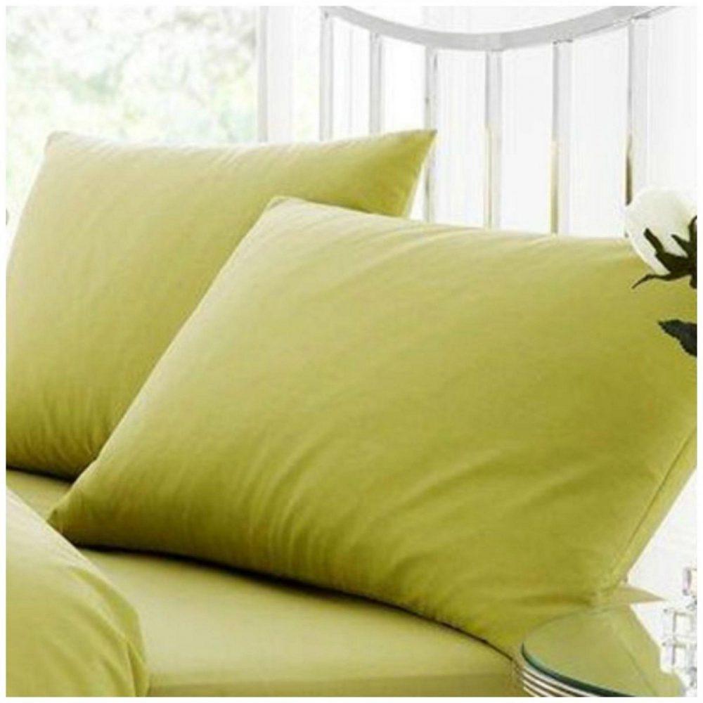 11021643 percale pillow case green 1 2