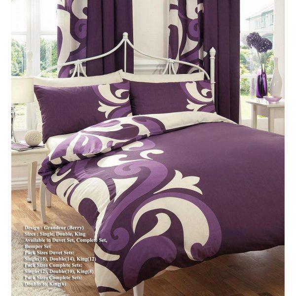 11036432 printed duvet set double grandeur berry 1 2