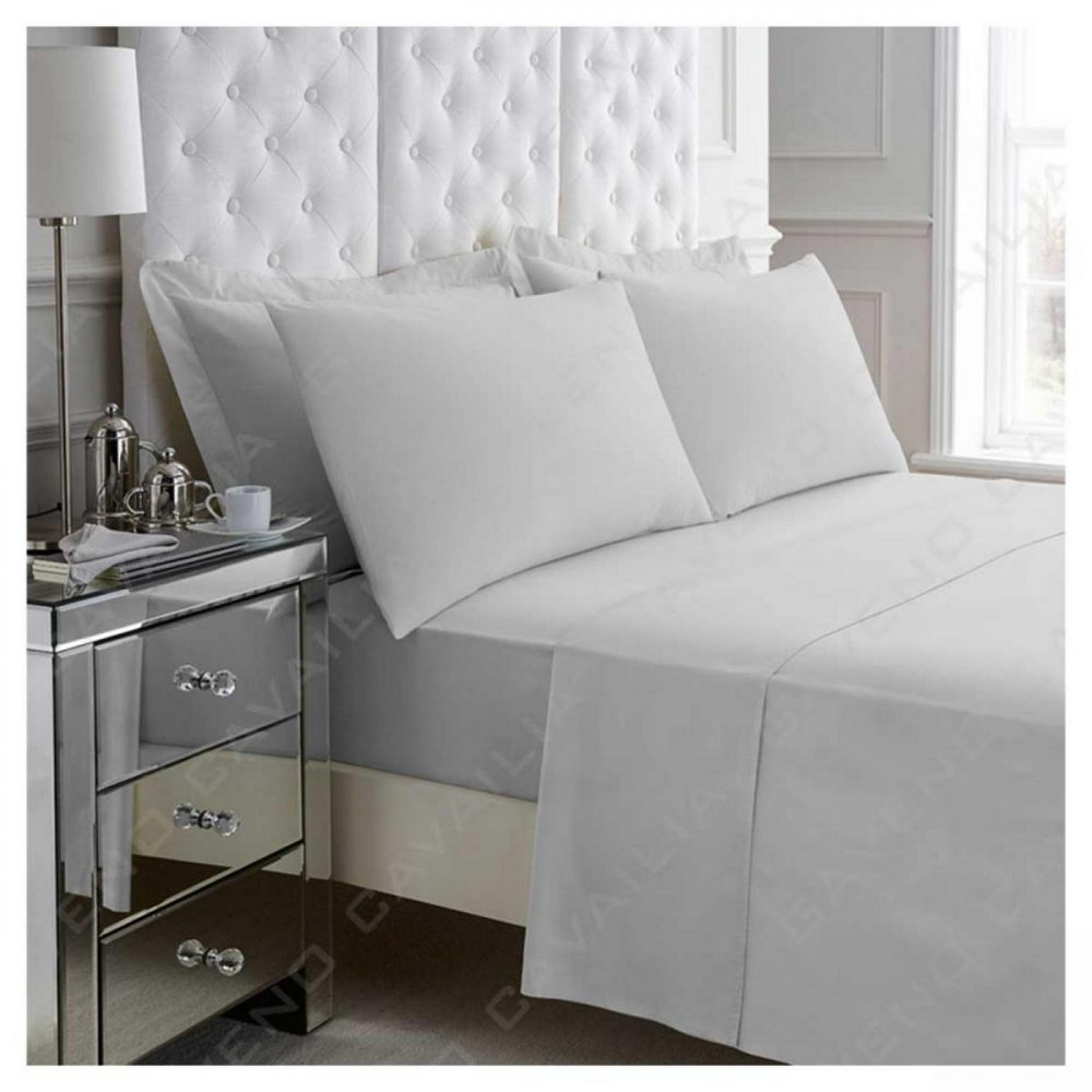 11040514 percale flat sheet double silver 1 2