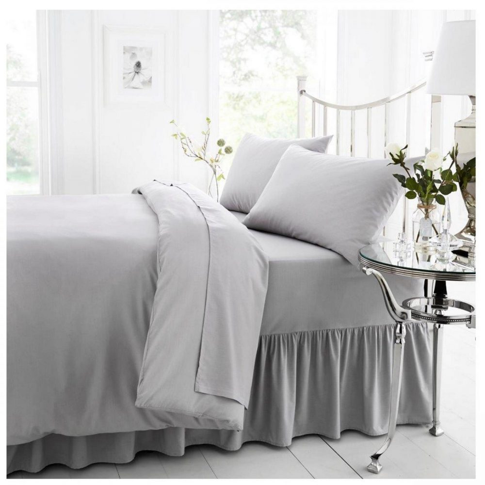 11040552 percale valance sheet double silver 1 2
