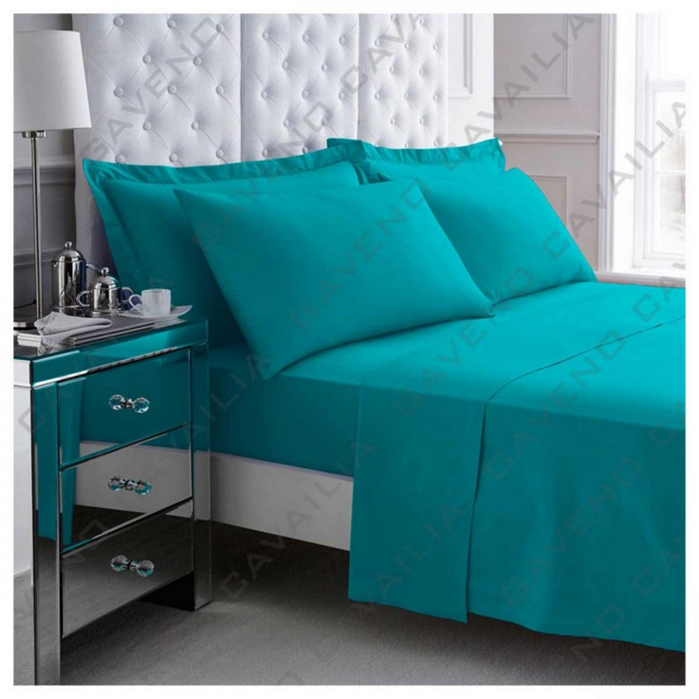 11041511 percale flat sheet double teal 1 2