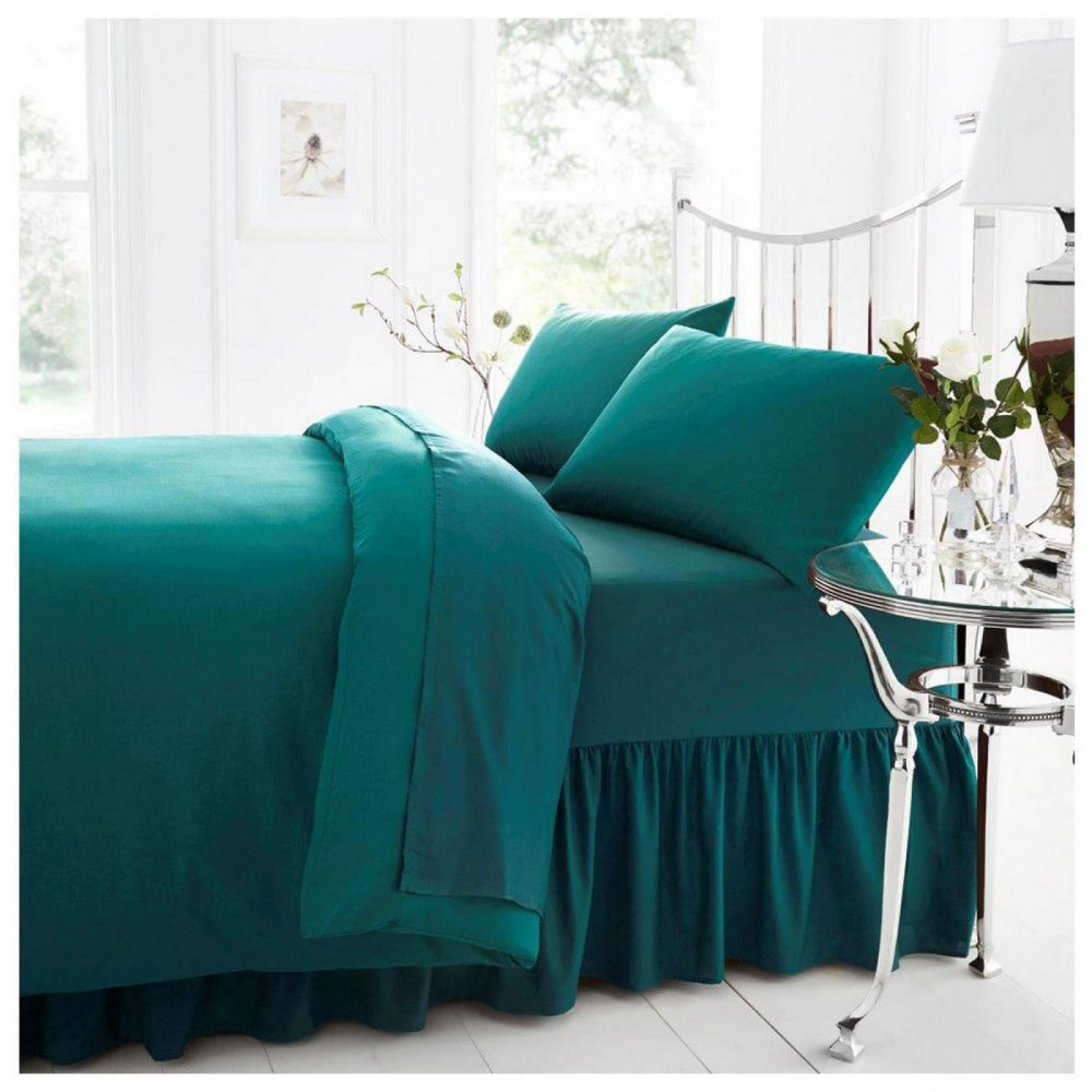 11041559 percale valance sheet double teal 1 2