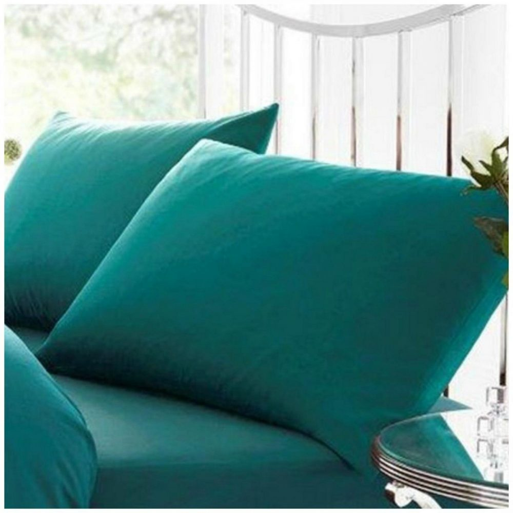 11041580 percale pillow case teal 1 2
