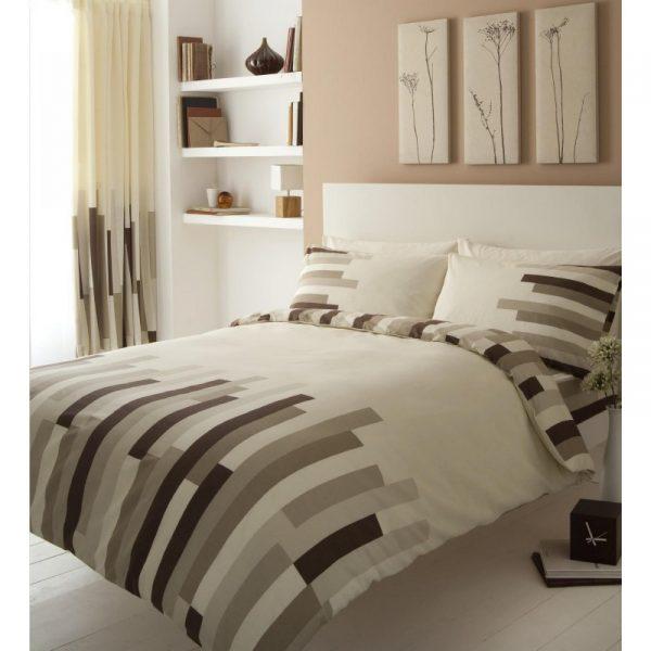 11042914 printed duvet set double blocks cream brown 1 2