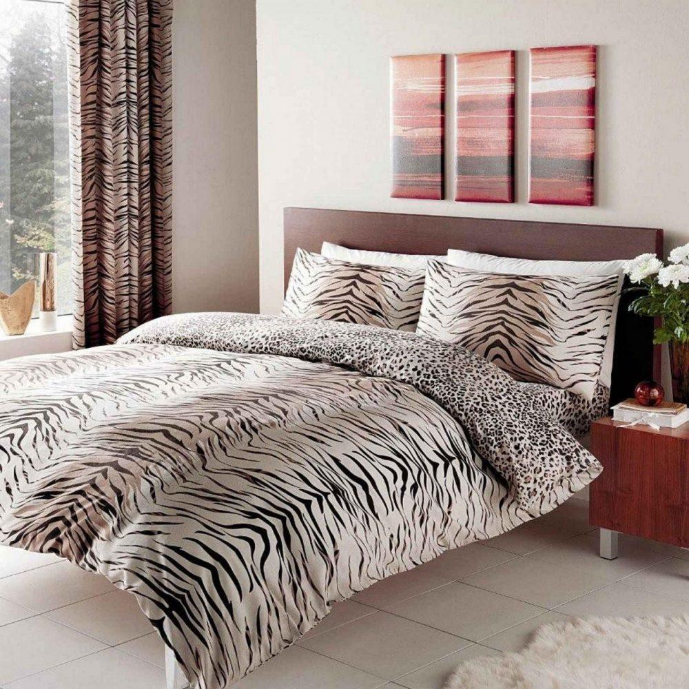 11049135 printed duvet set double tiger brown 1 2