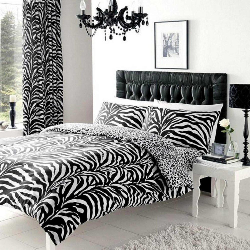 11049142 printed duvet set double zebra white black 1 2