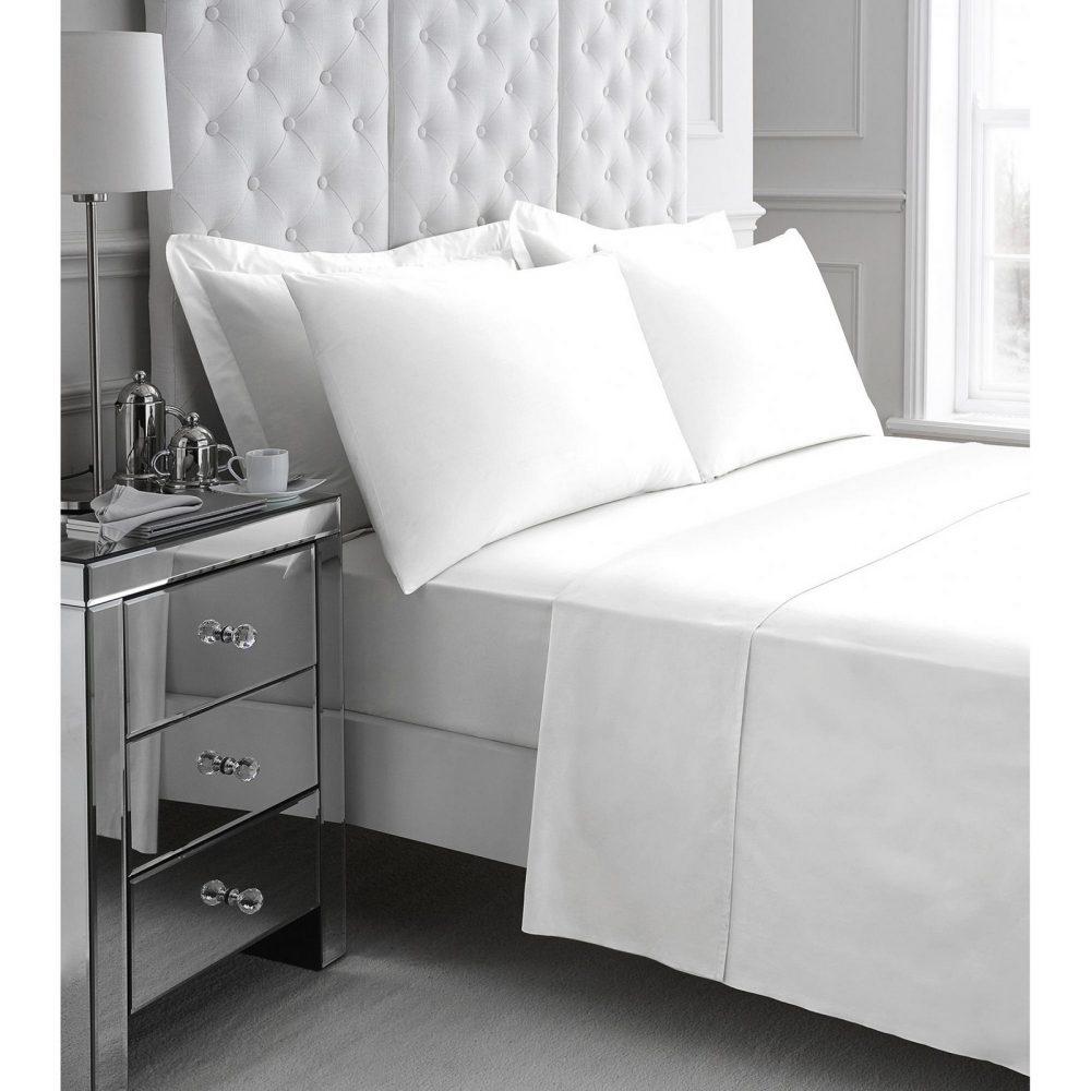 11060925 200 tc egyptian cotton flat sheet double white 1 3