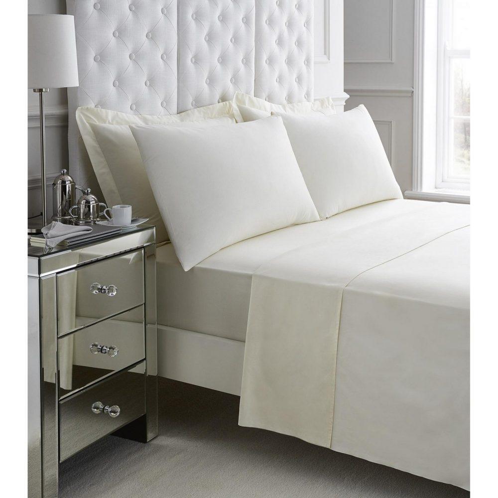 11060932 200 tc egyptian cotton flat sheet double cream 1 3