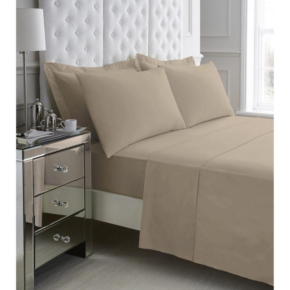 11060949 200 tc egyptian cotton flat sheet double mocha 1 3