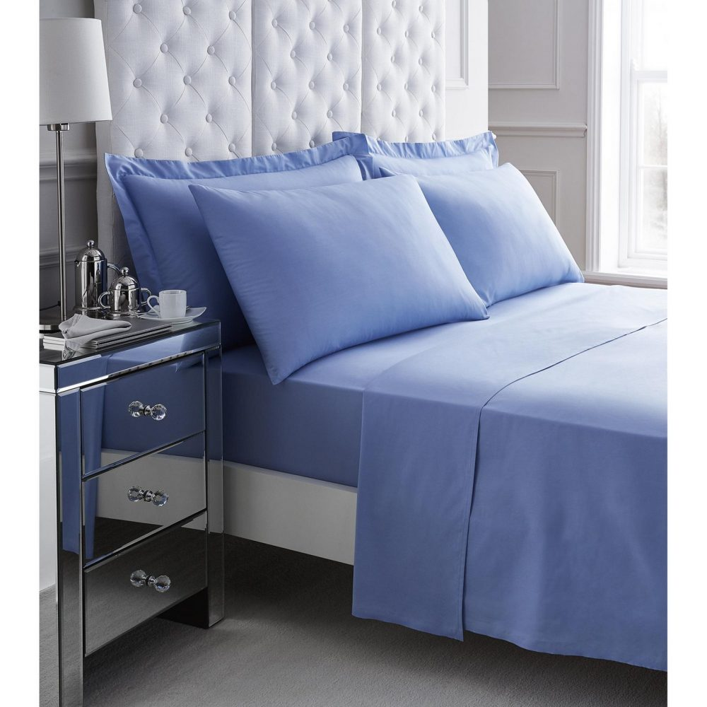 11060956 200 tc egyptian cotton flat sheet double blue 1 3