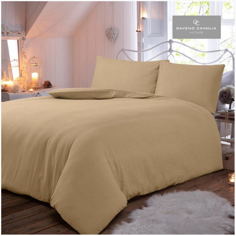 11065432 flannel plain duvet set double natural 1 2