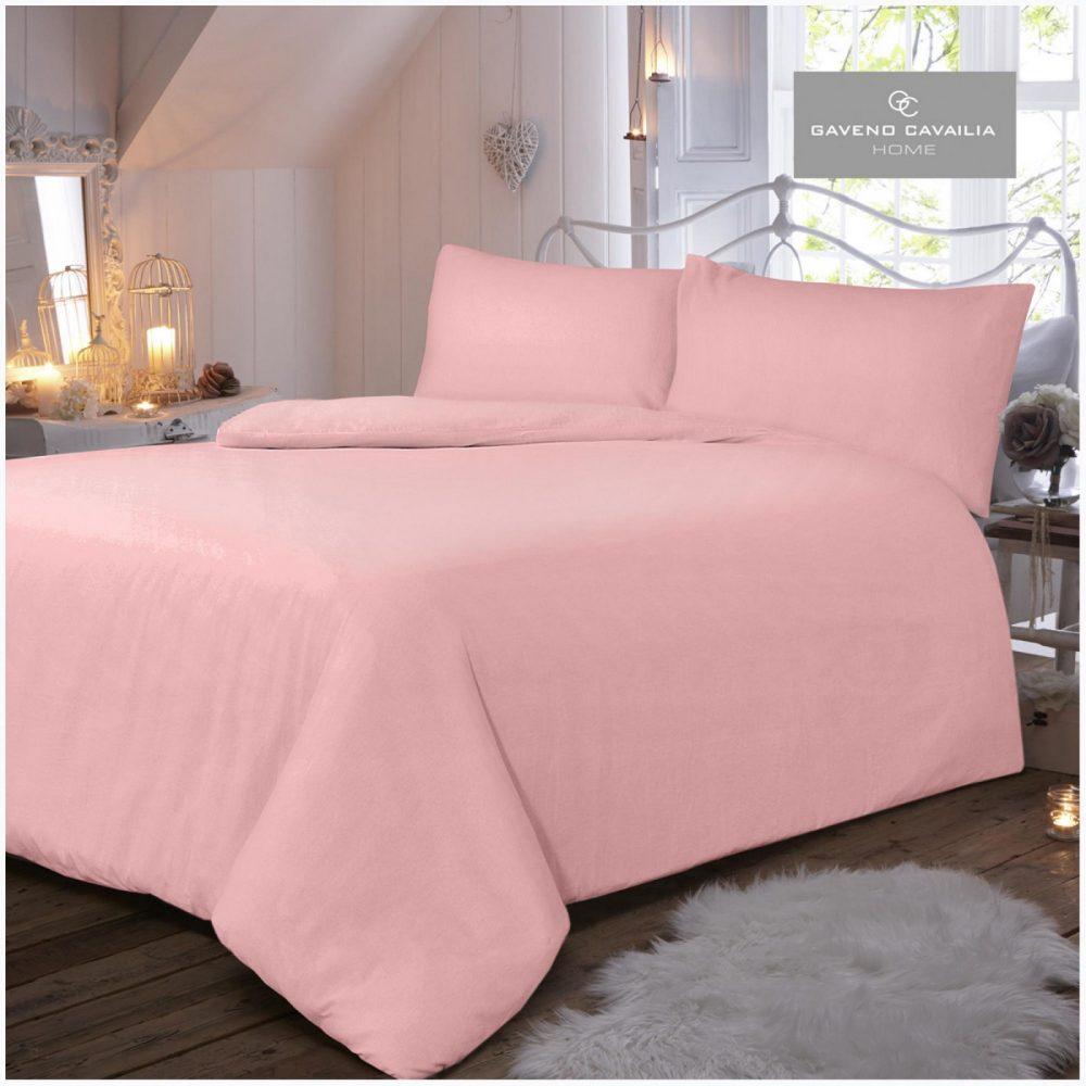 11065449 flannel plain duvet set double pink 1 2