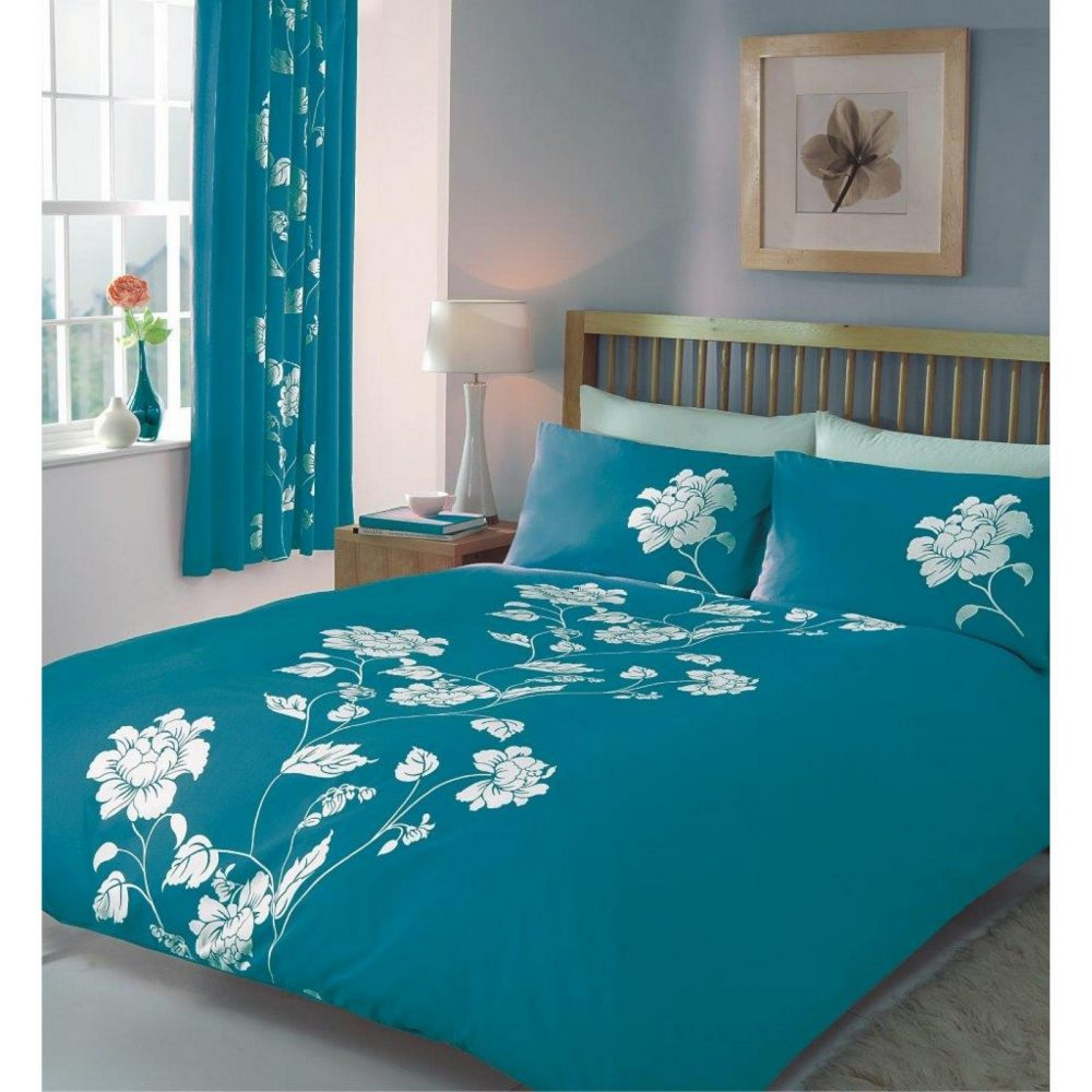 11066927 printed duvet set double chantilly teal 1 1