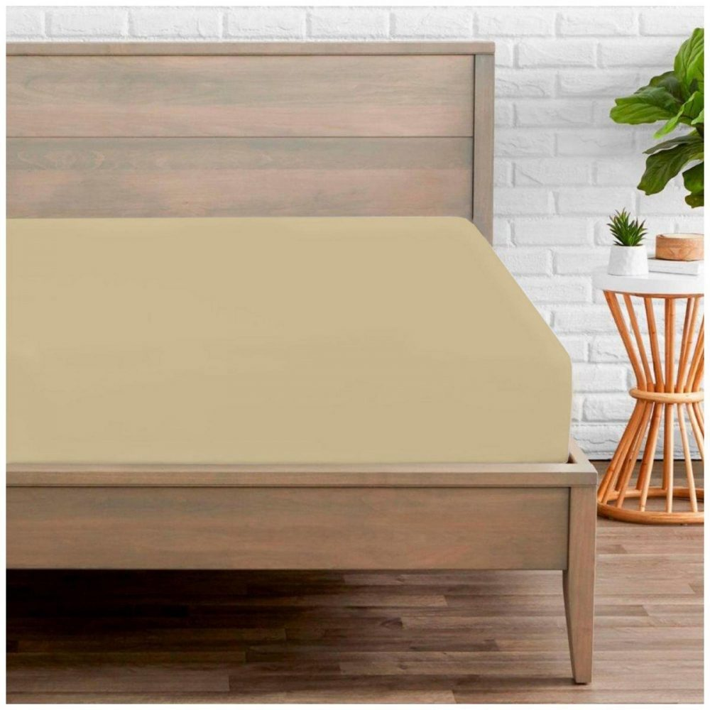 11074212 percale fitted sheet double natural 1 2