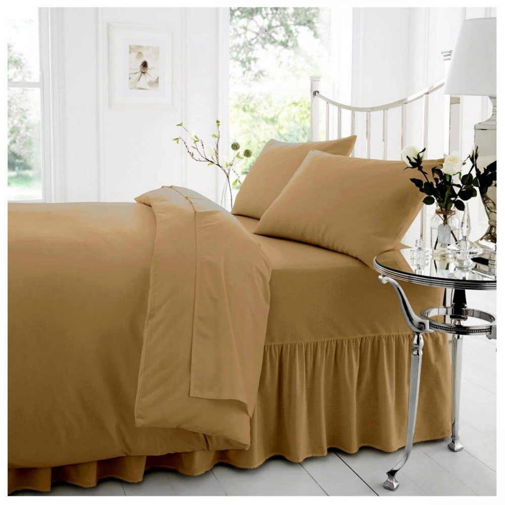 11074281 percale valance sheet double natural 1 2