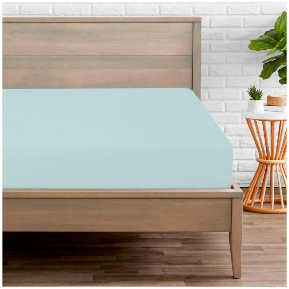 11074328 percale fitted sheet double sorbet blue 1 2