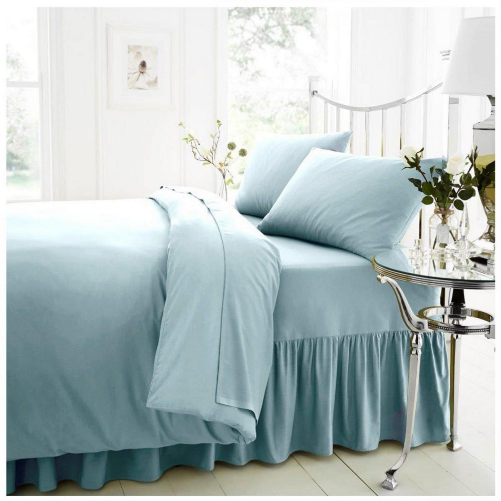 11074397 percale valance sheet double sorbet blue 1 2
