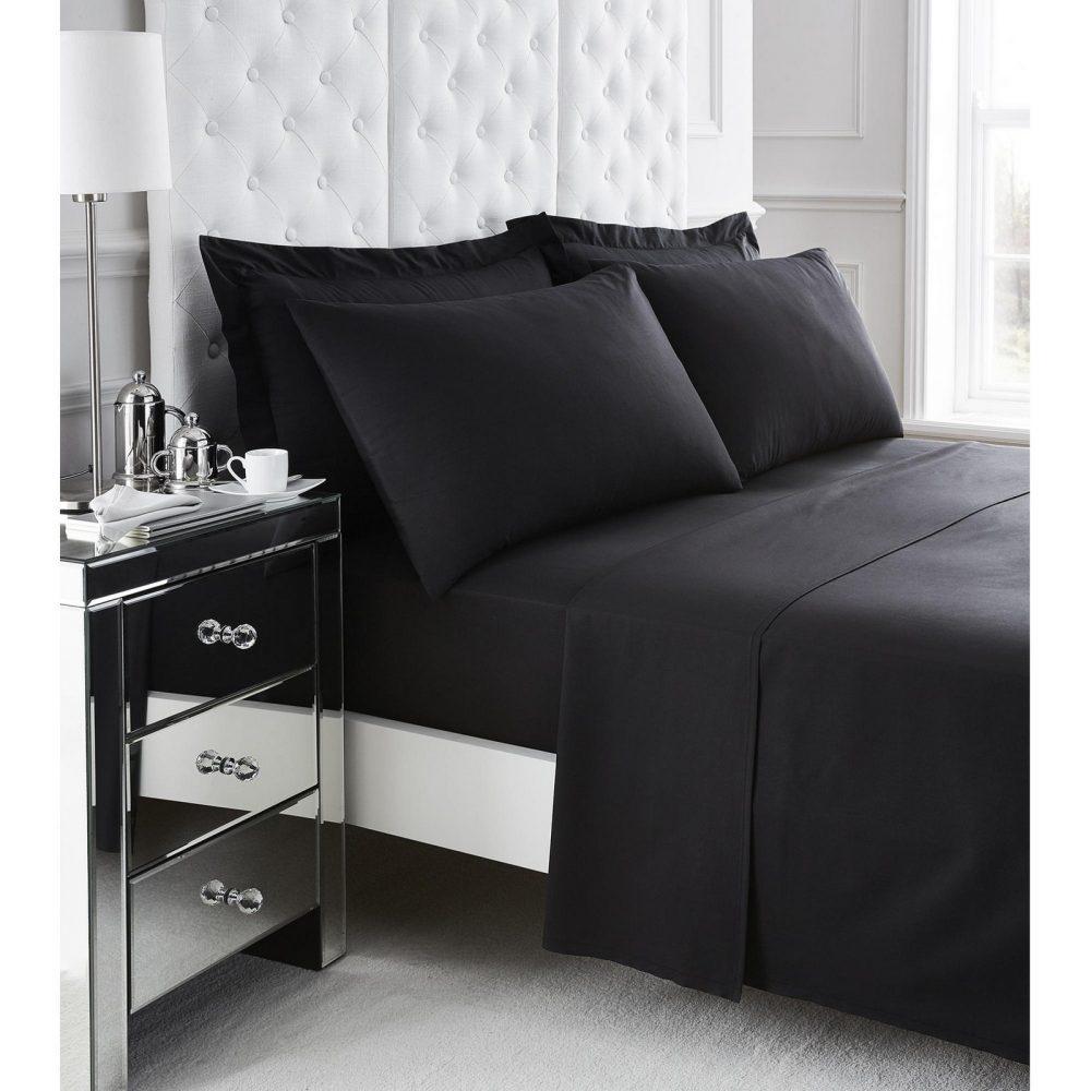 11078265 200 tc egyptian cotton flat sheet double black 1 2