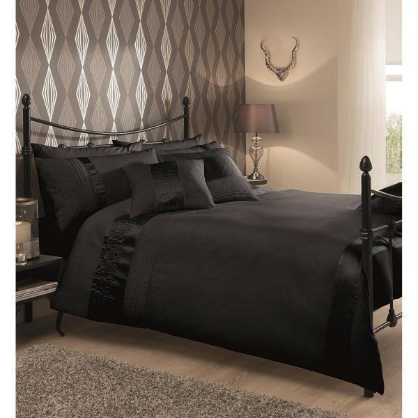 11082132 caprice duvet set double black 1 2
