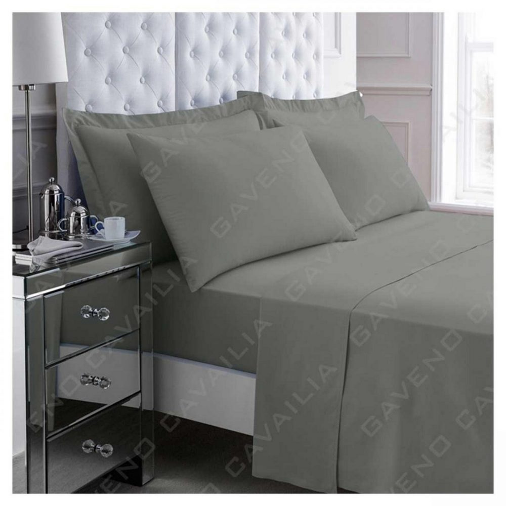 11082255 percale flat sheet double charcoal 1 2