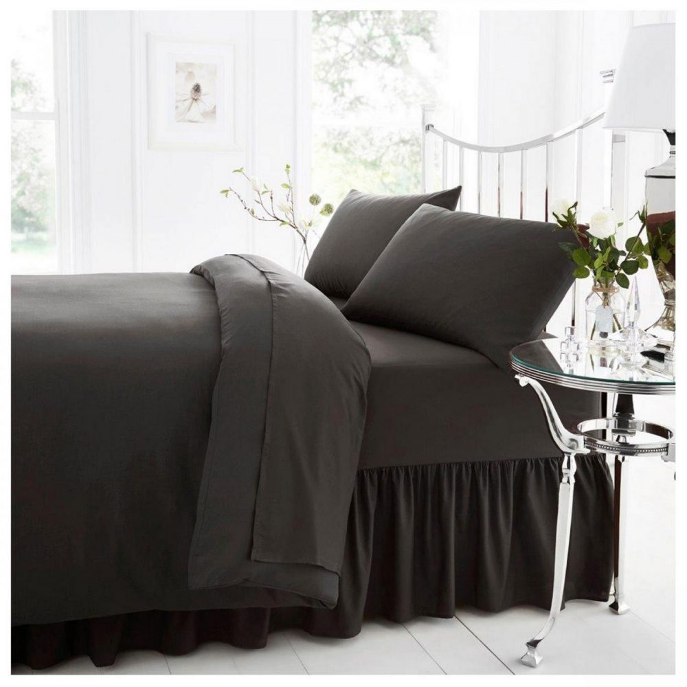 11082286 percale valance sheet double charcoal 1 2