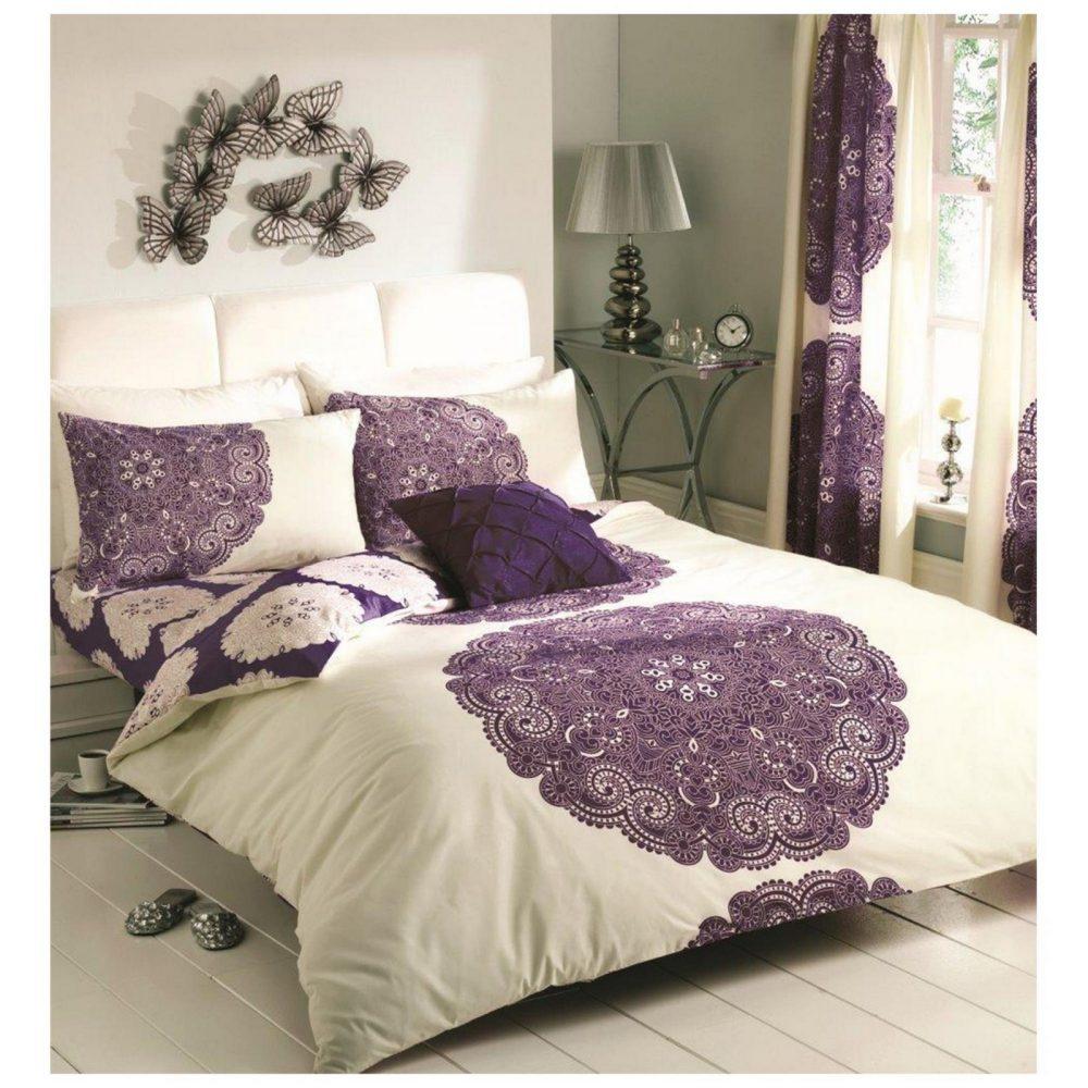 11084303 printed duvet set double manhattan cream aubergine 1 2