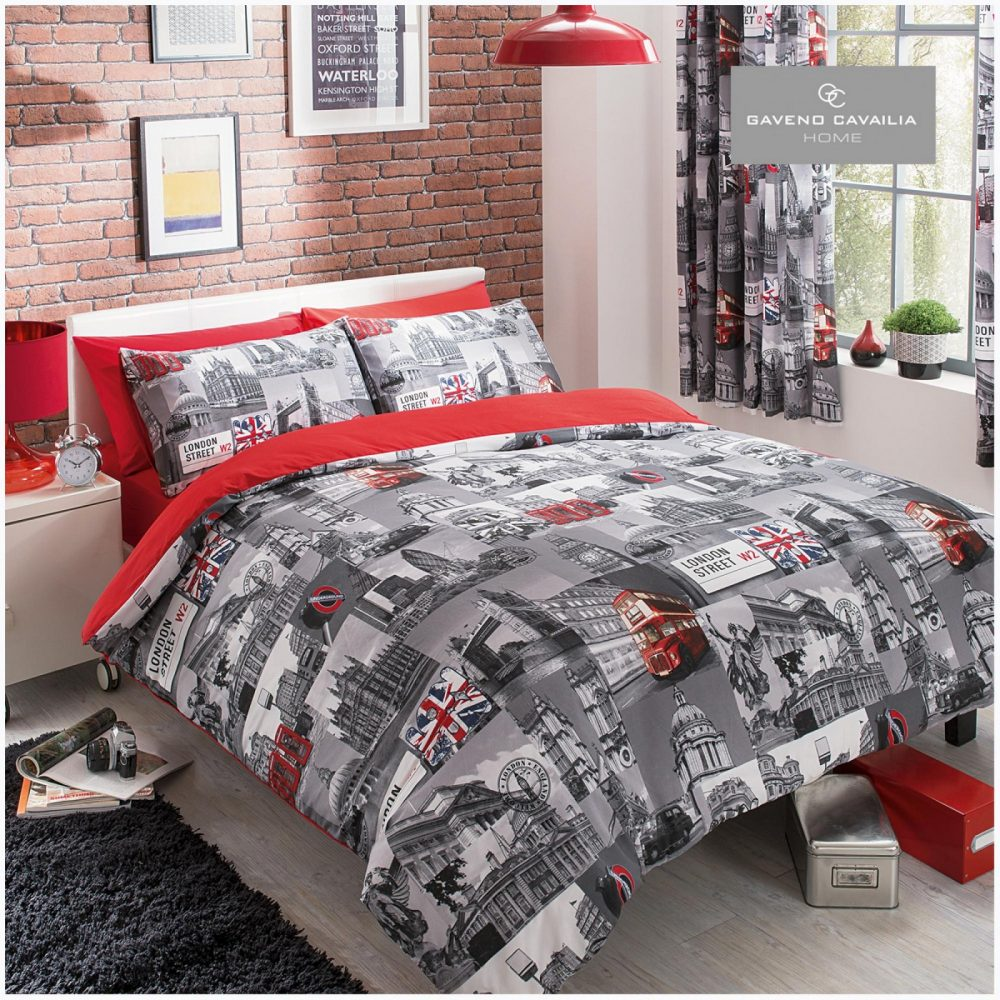 11085911 modern printed london city duvet set double grey red 1 1