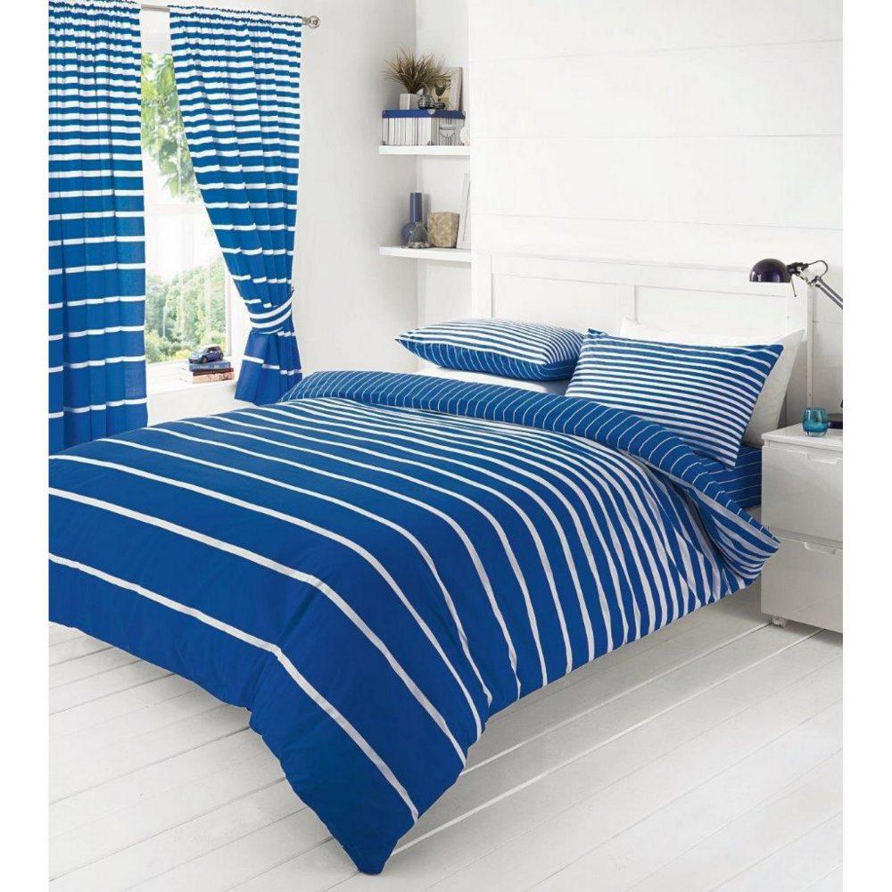 11086116 printed duvet set double linear blue 1 1