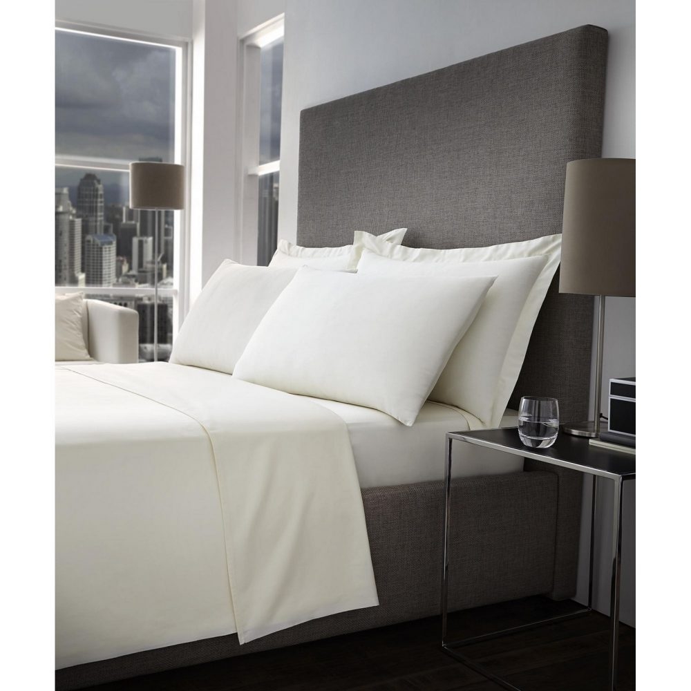 11093299 400 tc fitted sheet double cream 1 3