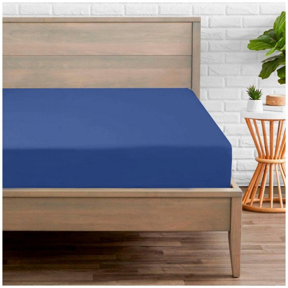 11094395 percale fitted sheet double royal blue 1 2