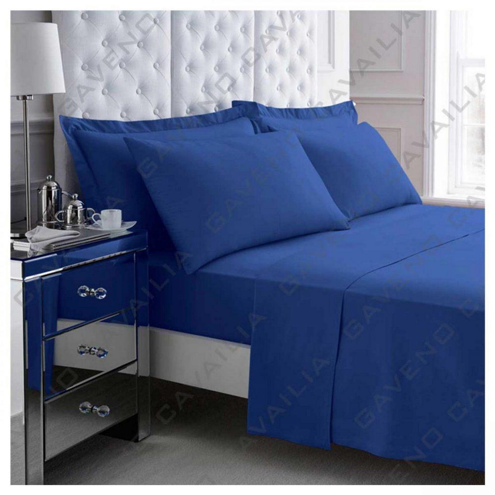 11094432 percale flat sheet double royal blue 1 2
