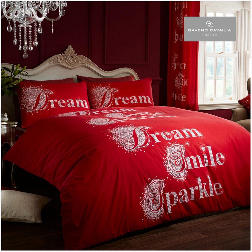 11098447 modern duvet set sparkle double red 1 1